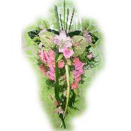 gerbe piquée rose et vert
