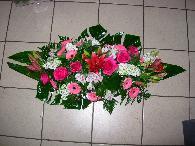 coussins allongé camaieu de rose