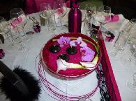 centre de table violet