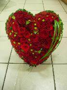 coeur de roses rouge