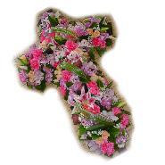 croix masse rose