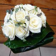 bouquet  roses blanche