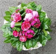 Bouquet rond rosé