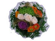 bouquet renoncules,roses