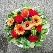 Bouquet callas orange